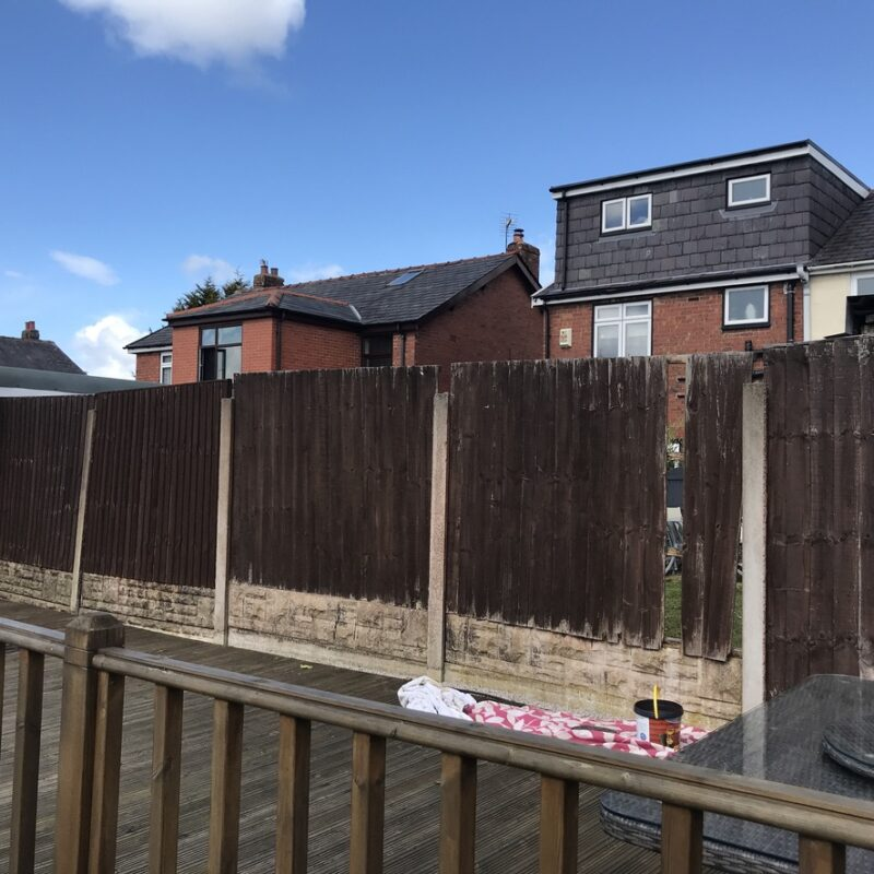 Fence painting before